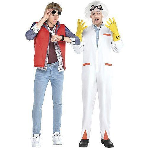 """<p>partycity.com</p><p><strong>$44.99</strong></p><p><a href=""""https://www.partycity.com/adult-marty-mcfly-and-doc-couples-costume-accessory-kits---back-to-the-future-G842190.html?cgid=couples-costumes-movie"""" rel=""""nofollow noopener"""" target=""""_blank"""" data-ylk=""""slk:Shop Now"""" class=""""link rapid-noclick-resp"""">Shop Now</a></p><p>So what if they weren't *technically* a couple in the movies? Just imagine how cute (and hilarious) you or your S.O. will look in that white wig. </p>"""