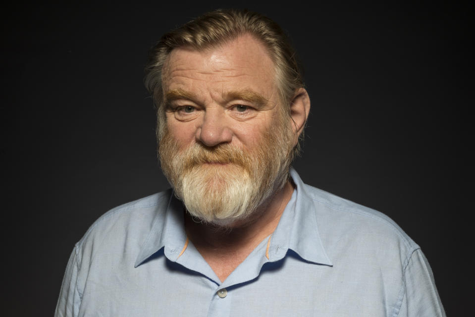 """Brendan Gleeson poses for a portrait at The 2017 Summer TCA Event promoting """"Mr. Mercedes"""" at The Beverly Hilton on Tuesday, July 25, 2017, in Beverly Hills, Calif. (Photo by Ron Eshel/Invision/AP)"""