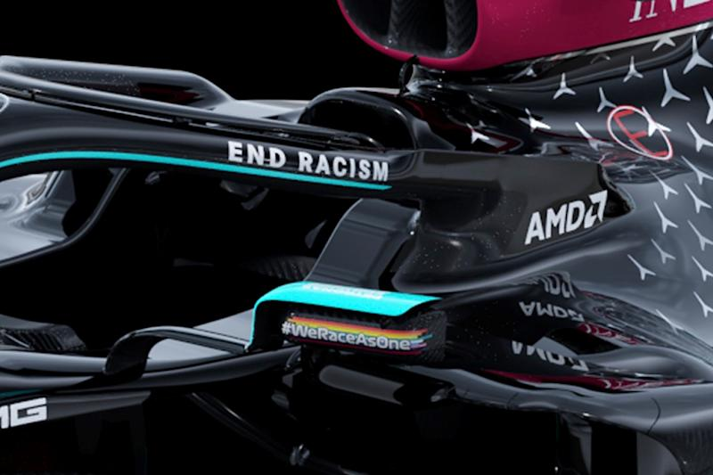 Mercedes opts for black livery in anti-racism message