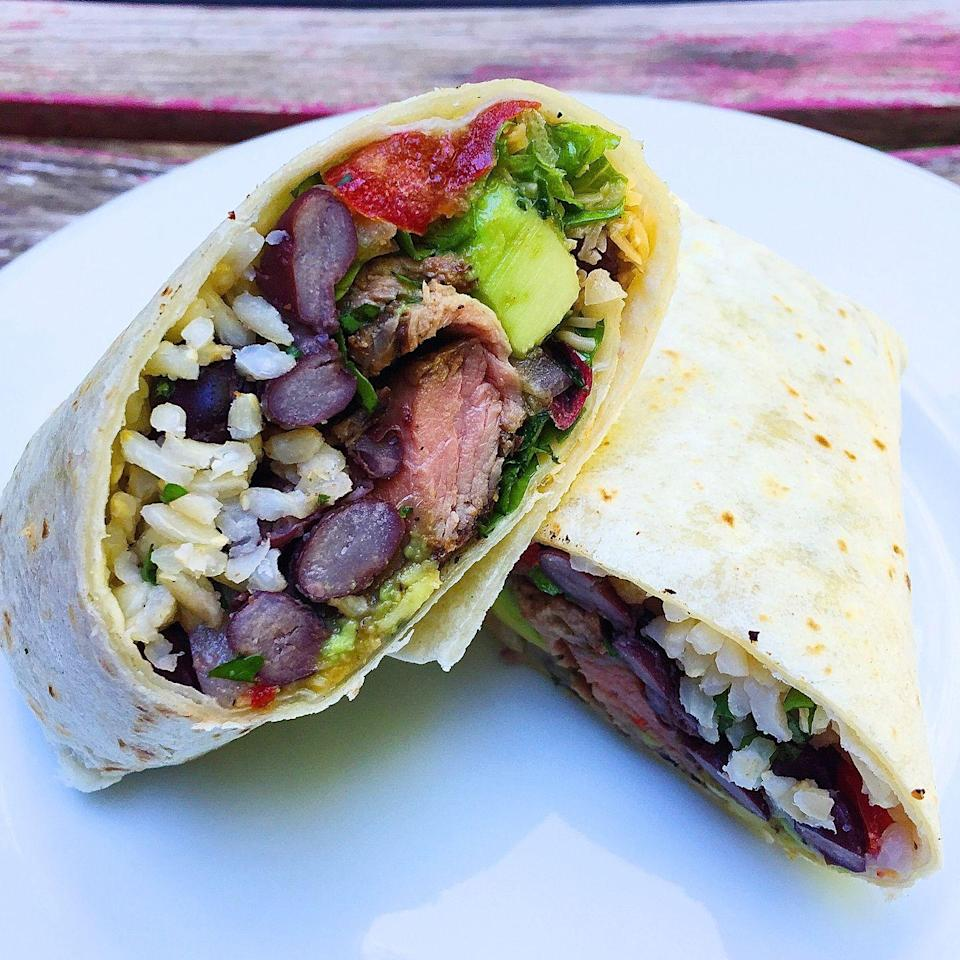 "<p>Leftover steak was simply made for burritos.</p><p>Get the recipe from <a href=""https://www.delish.com/cooking/recipe-ideas/recipes/a43967/grilled-steak-burritos-avocado-pico-de-gallo-recipe/"" rel=""nofollow noopener"" target=""_blank"" data-ylk=""slk:Delish"" class=""link rapid-noclick-resp"">Delish</a>.</p>"