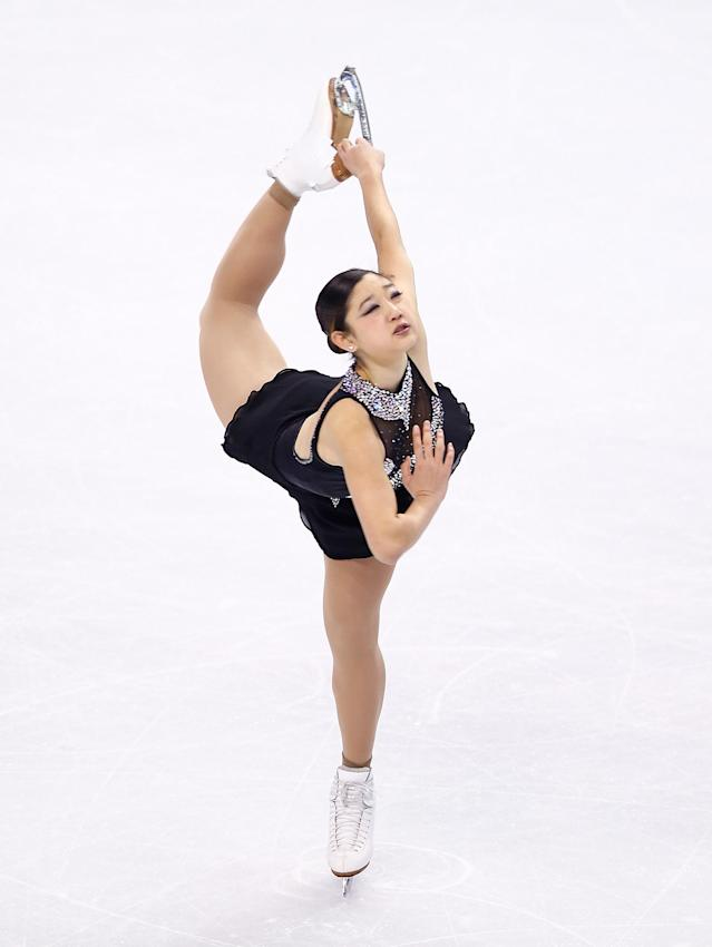 BOSTON, MA - JANUARY 11: Mirai Nagasu competes in the free skate program during the 2014 Prudential U.S. Figure Skating Championships at TD Garden on January 11, 2014 in Boston, Massachusetts. (Photo by Jared Wickerham/Getty Images)