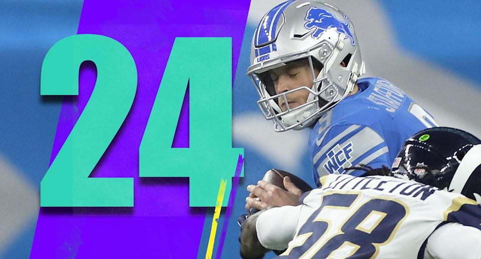 <p>On Sunday the Lions' leader in rushing yards was LeGarrette Blount, the leader in receiving yards was Levine Toilolo and the leader in receptions was Bruce Ellington. Matthew Stafford is struggling, but look at what he's working with. (Matthew Stafford) </p>