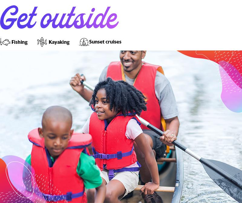 Myrtle Beach has many water activities, including kayaking and canoeing.