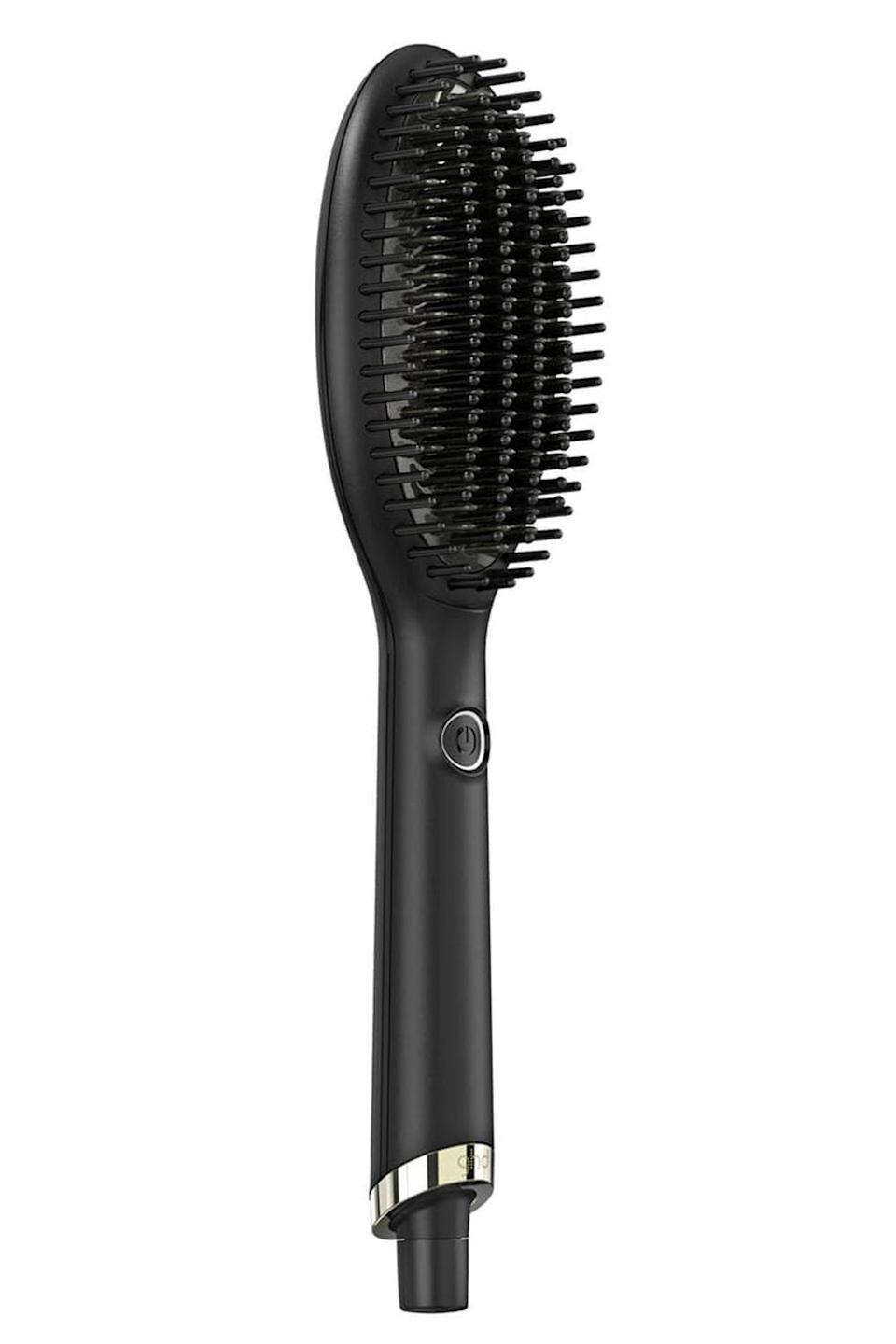 "<p><strong>ghd</strong></p><p>sephora.com</p><p><strong>$169.00</strong></p><p><a href=""https://go.redirectingat.com?id=74968X1596630&url=https%3A%2F%2Fwww.sephora.com%2Fproduct%2Fglide-professional-performance-hot-brush-P444071&sref=https%3A%2F%2Fwww.cosmopolitan.com%2Fstyle-beauty%2Fbeauty%2Fg30017766%2Fbest-hair-brushes%2F"" rel=""nofollow noopener"" target=""_blank"" data-ylk=""slk:Shop Now"" class=""link rapid-noclick-resp"">Shop Now</a></p><p>Think of this <a href=""https://www.cosmopolitan.com/style-beauty/beauty/g28788743/best-hair-straightening-brush/"" rel=""nofollow noopener"" target=""_blank"" data-ylk=""slk:hair-straightening brush"" class=""link rapid-noclick-resp"">hair-straightening brush</a> as your brush and <a href=""https://www.cosmopolitan.com/style-beauty/beauty/g12837010/best-hair-straightener-flat-iron/"" rel=""nofollow noopener"" target=""_blank"" data-ylk=""slk:flat iron"" class=""link rapid-noclick-resp"">flat iron</a> in one. The ceramic, ion-infused plate <strong>heats up to 365 degrees to straighten and smooth your hair</strong> and prevent frizz. Even better, it has densely-packed short and long bristles to help you style larger sections of hair with fewer passes.</p>"