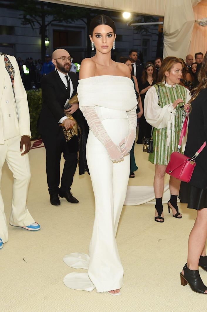 Kendall Jenner at the Met Gala 2018