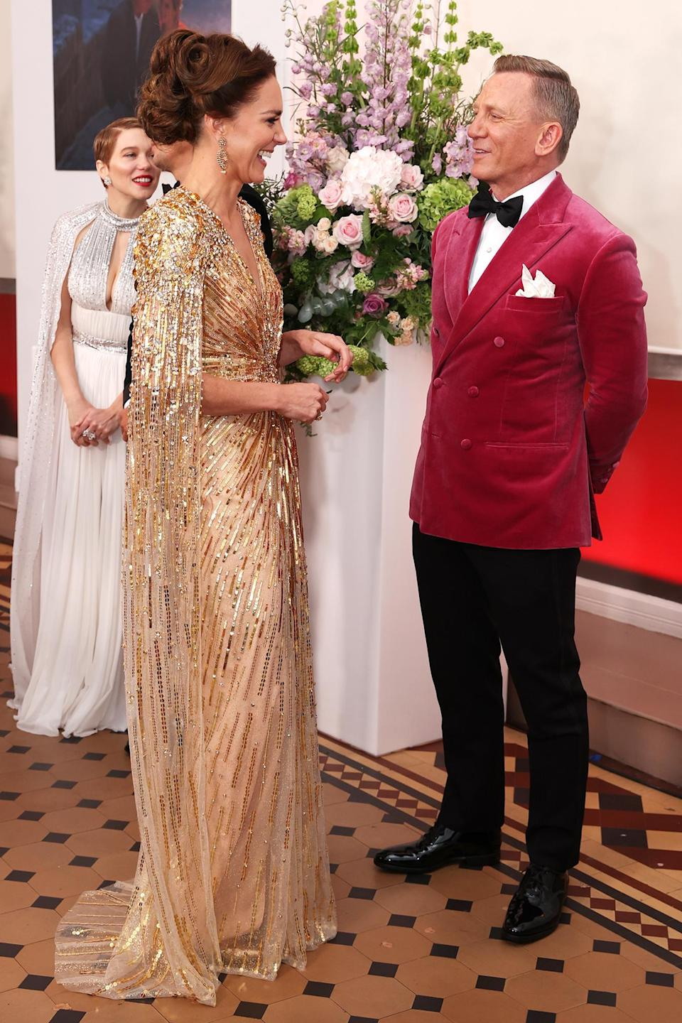 """<p>Kate also got a chance to speak to the star, who told her, """"You look jolly lovely!""""</p>"""