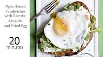 """<p>You'll need a knife and fork to dig in to these filling <a href=""""https://www.myrecipes.com/sandwich-recipes"""" rel=""""nofollow noopener"""" target=""""_blank"""" data-ylk=""""slk:sandwiches"""" class=""""link rapid-noclick-resp"""">sandwiches</a> that give a unique take on breakfast for dinner.</p>"""