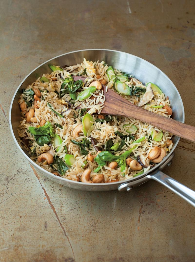 Fried Rice with Chinese <br> Broccoli and Shiitakes