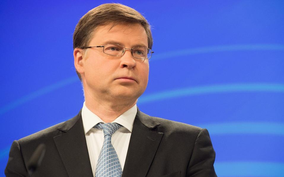 Mr Dombrovskis' comments suggest that the European Commission, which has long pushed for the deal, has accepted that political reality, despite Berlin pressing hard for the agreement - Mauro Bottaro