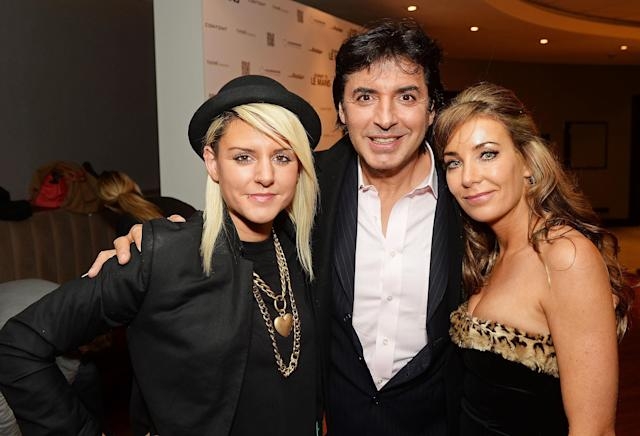 Jean-Christophe Novelli and Michelle Kennedy with his daughter Christina Novelli in 2014 (Credit: Getty Images)