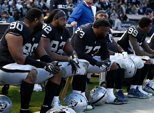 The NFL knows the Oakland Raiders have a legitimate gripe about their 2019 schedule. (AP Photo/D. Ross Cameron)