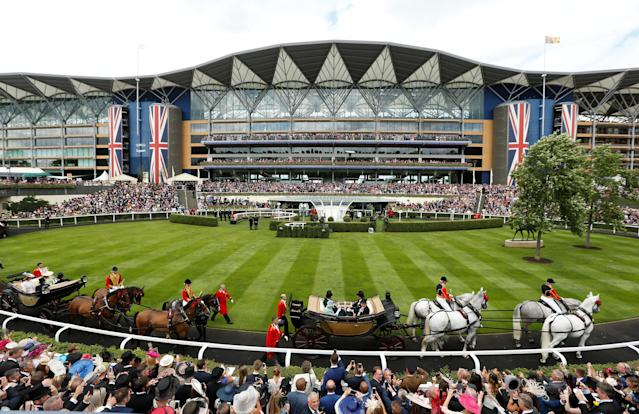 Horse Racing - Royal Ascot - Ascot Racecourse, Ascot, Britain - June 23, 2017 Britain's Queen Elizabeth arrives at Ascot Action Images via Reuters/Matthew Childs