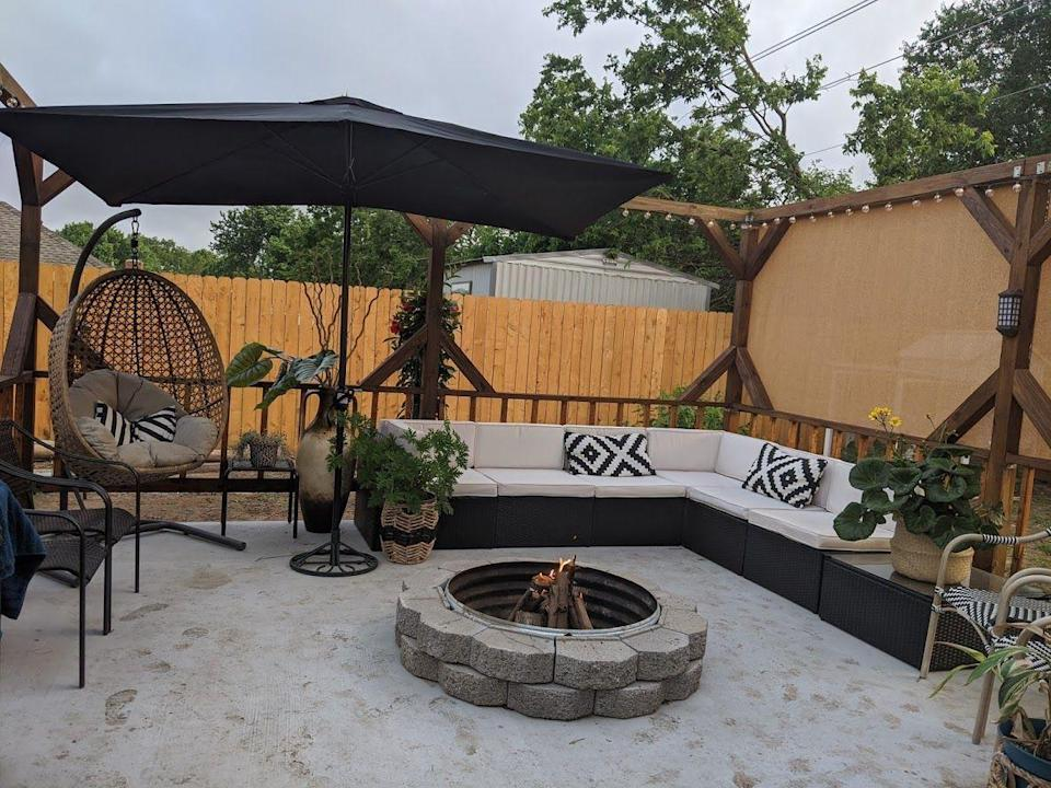 """<p>McGuire believes the backyard is a great place to invest money and hard work. """"If you're looking to complete your backyard makeover on a budget, utilize options like Facebook Marketplace and the Habitat for Humanity Restore to find the materials and outdoor furniture,"""" she says. """"Making over gently used items is a great way to save money and add your personal touch.""""</p>"""