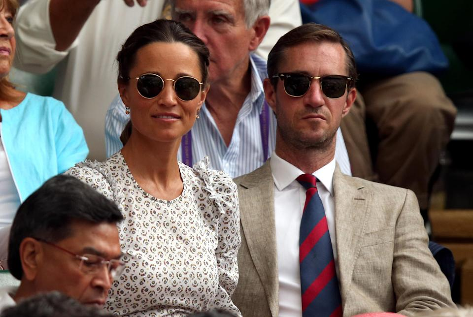 Pippa and husband James Matthews named their first child Arthur [Photo: PA]