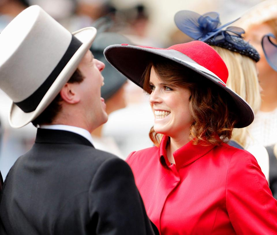 "<p>Queen Elizabeth's granddaughter shared her first thoughts about Jack in a pre-wedding interview, revealing: ""I thought, 'What a silly hat!' And I thought, 'Who's that?' ""</p> <p>She continued, ""And then [looking at Jack], you came over and shook my hand, and I was all butterflies and nervous.""</p>"