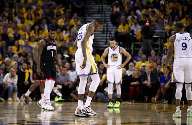 Kevin Durant thought he tore his Achilles just like the rest of the NBA world. (Ezra Shaw/Getty Images)