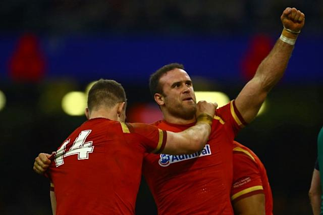 Jamie Roberts (right) will captain the Wales rugby union team in Tonga and Samoa (AFP Photo/Geoff CADDICK)