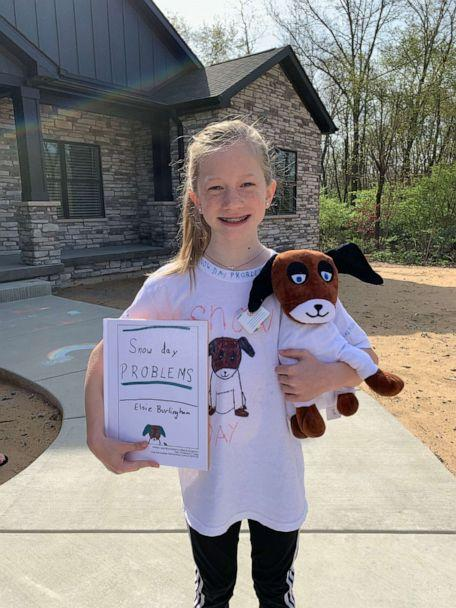 PHOTO: Jessica Burlingham, mom to Elsie, 9, said her daughter could barely sleep the night before, knowing her teacher, Mrs. Anderson, was arriving in the morning to celebrate her final project. (Budsies)