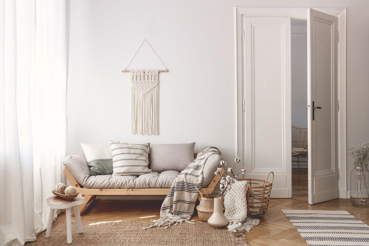 <p>While we love macrame as an art form and the handmade quality it brings to a room, we expect the trend to taper over the course of 2020. Handwoven wall hangings, bohemian hanging chairs, and hanging planters all had their moment in 2019, but we have finally reached peak macrame. </p> <p>To give belongings a bespoke vibe, expect to see more embroidered details in the year to come. Look for embroidered throw pillows, duvet covers, and more. </p>