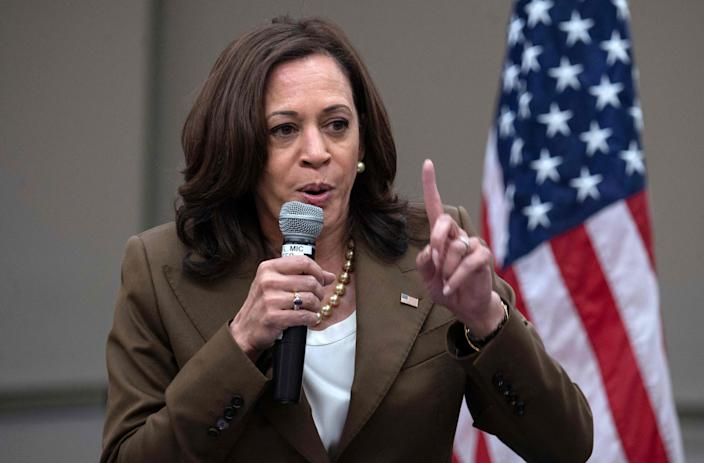 Vice President Kamala Harris meets with Democratic members of the Texas Legislature, some of whom tested positive for the coronavirus.