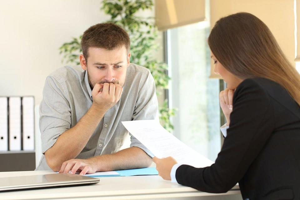 "<span class=""caption"">Should she trust her gut or her head?</span> <span class=""attribution""><span class=""source"">Job interview via www.shutterstock.com</span></span>"