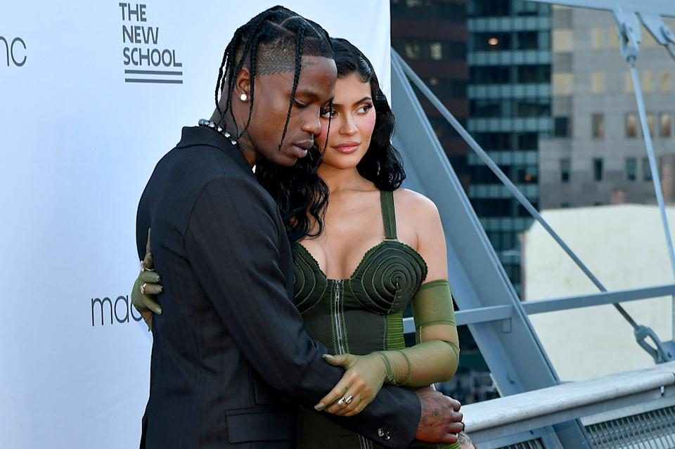 NEW YORK, NEW YORK - JUNE 15: Travis Scott and Kylie Jenner attend the The 72nd Annual Parsons Benefit at Pier 17 on June 15, 2021 in New York City. (Photo by Craig Barritt/Getty Images for The New School)