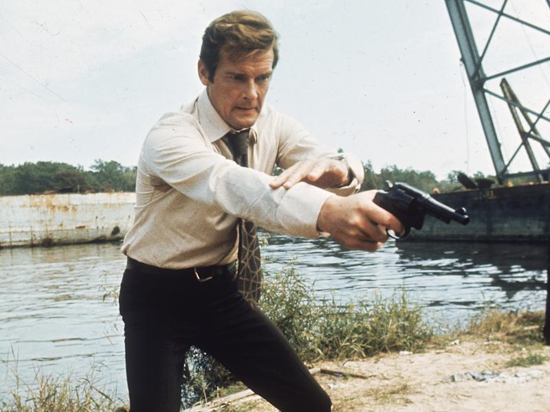 1973: British actor Roger Moore filming the new James Bond adventure 'Live and Let Die': Keystone/Getty Images