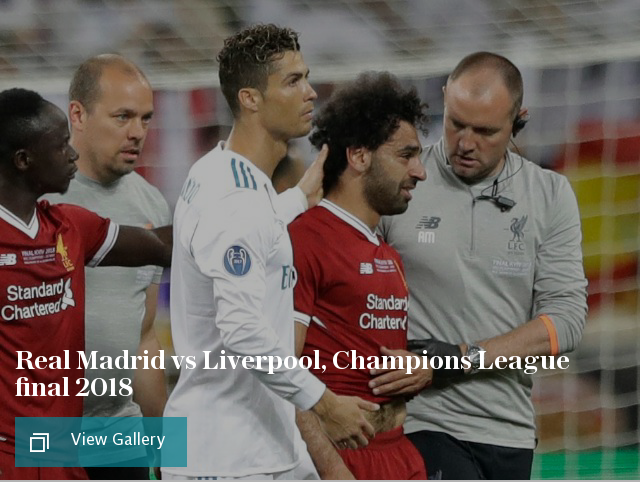 Real Madrid vs Liverpool, Champions League final 2018