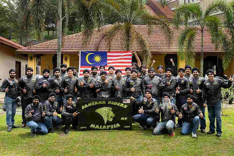 A group of bikers from the Santana Riderz Malaysia Club set to embark on a first-ever longest charity ride to Pakistan next week. — Picture courtesy of Santana Riderz Malaysia Club