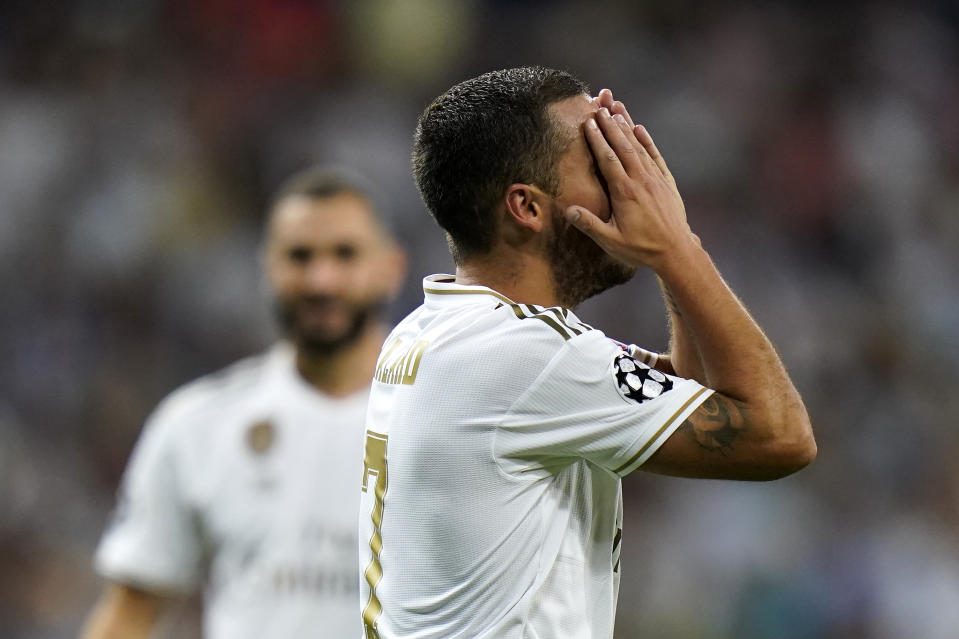 Real Madrid has stumbled in Champions League play so far, and Eden Hazard is their main problem. (Getty)