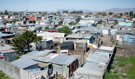 FILE PHOTO:Shacks are seen at an informal settlement near Cape Town