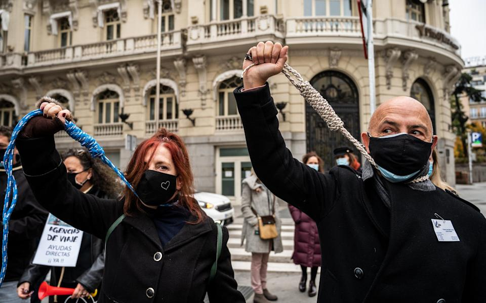 spain tourism protests - Getty