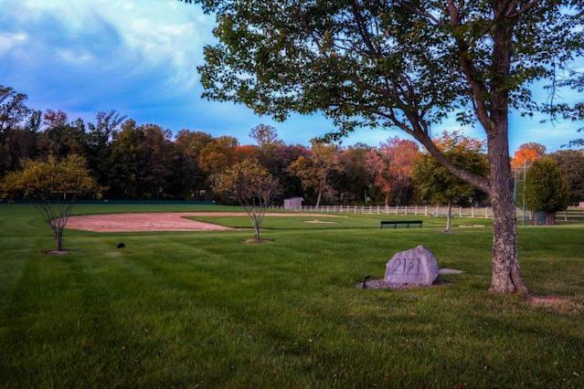 Of course there's a baseball diamond at Cal Ripken's house. (Zillow)
