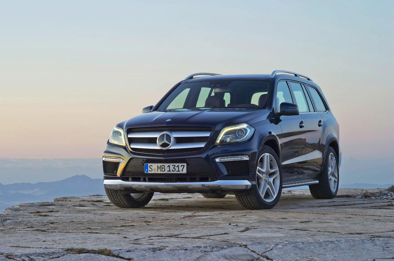 The new Mercedes-Benz GL class has been leaked ahead of the 2012 New York Auto Show. Adopting a design language similar to the square-ish headlight and grill seen in the new SL and SLK convertible, the GL class is more aggressively styled than its predecessor. Powertrain details have yet to be announced, but expect a Bluetec diesel version as well as a high-powered turbo.