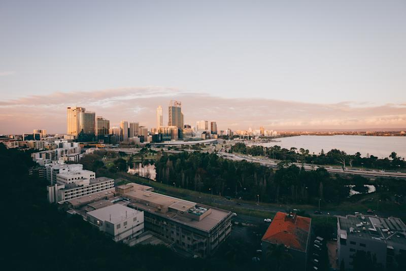 Perth city: view from King's Park. Como in South Perth was named the most consistent property market. (Source: Getty)