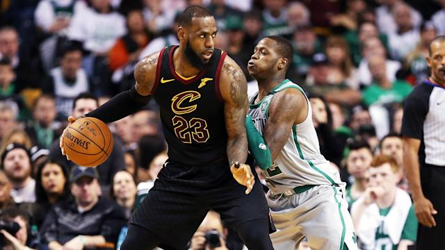 George Hill, Jordan Clarkson, Larry Nance Jr and Rodney Hood all made their debuts as the Cleveland Cavaliers eased past the Boston Celtics.