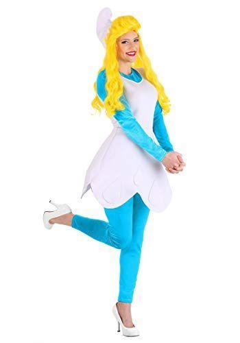 """<p><strong>Fun Costumes</strong></p><p>amazon.com</p><p><strong>$44.99</strong></p><p><a href=""""https://www.amazon.com/dp/B00TSNEJRU?tag=syn-yahoo-20&ascsubtag=%5Bartid%7C10055.g.4544%5Bsrc%7Cyahoo-us"""" rel=""""nofollow noopener"""" target=""""_blank"""" data-ylk=""""slk:Shop Now"""" class=""""link rapid-noclick-resp"""">Shop Now</a></p><p>This costume is positively smurfy (whatever that means). Wear this and you'll be ready to warn <a href=""""https://www.amazon.com/Smurfs-Adult-Costume-White-Standard/dp/B004QH7AME?tag=syn-yahoo-20&ascsubtag=%5Bartid%7C10055.g.4544%5Bsrc%7Cyahoo-us"""" rel=""""nofollow noopener"""" target=""""_blank"""" data-ylk=""""slk:Papa Smurf"""" class=""""link rapid-noclick-resp"""">Papa Smurf</a> about Gargamel. </p>"""