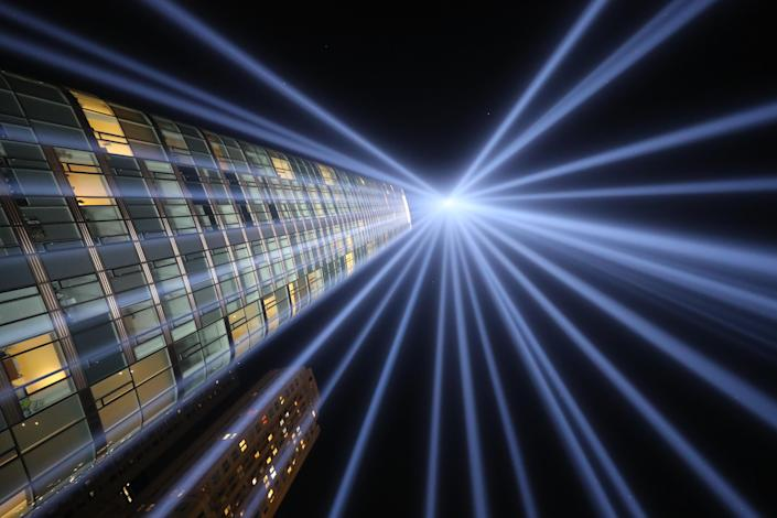 <p>Tribute in Light is a commemorative public art installation first presented six months after 9/11 and then every year thereafter, from dusk to dawn, on the night of Sept. 11. (Photo: Gordon Donovan/Yahoo News) </p>
