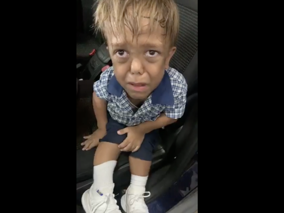 Footage of nine-year-old Quaden Bayles went viral after his mother shared a video of him in tears to highlight the consequences of bullying (Facebook: Yarracka Bayles)