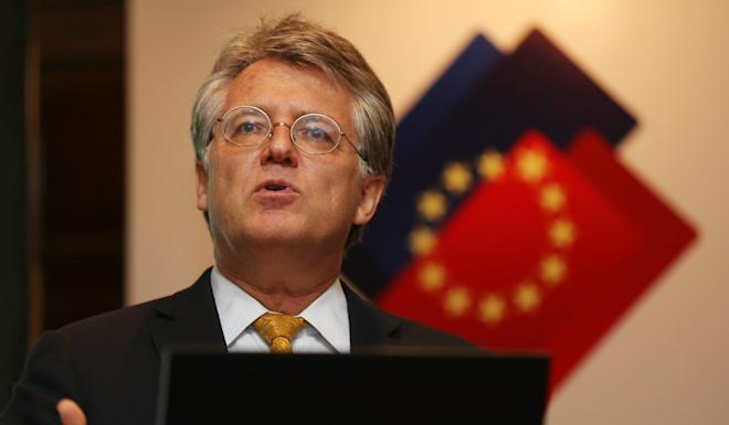 "Joerg Wuttke, president of the EU Chamber of Commerce in China, said the purchasing deal would lead European firms to ""wonder where our place is"". Photo: EPA"