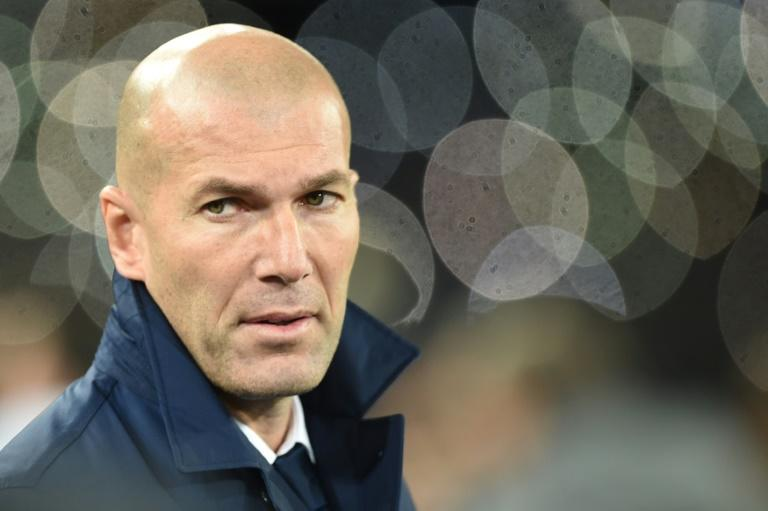Real Madrid's head coach Zinedine Zidane, seen ahead of their UEFA Champions League match against Napoli, at the San Paolo stadium in Naples, on March 7, 2017