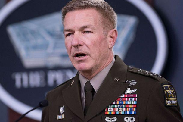 PHOTO: Chief of Staff of the Army Gen. James C. McConville speaks at the Pentagon about the latest COVID-19 developments in the Army, March 26, 2020, in Washington. (Lisa Ferdinando/Office of the Secretary of Defense)