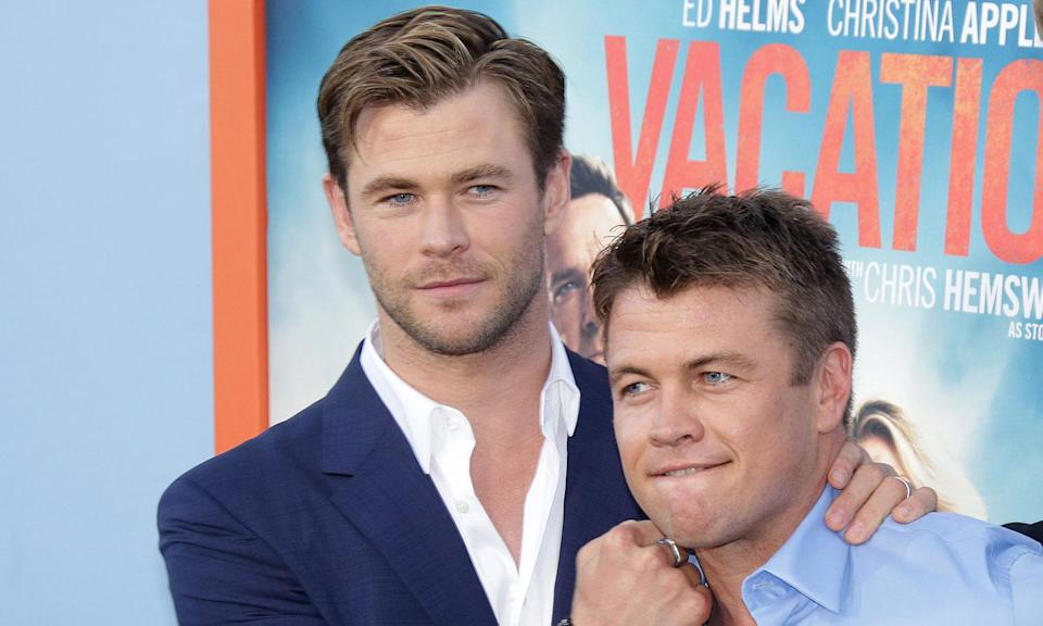 The Hemsworth brothers in 2015 (Jim Smeal/BEI/REX/Shutterstock)