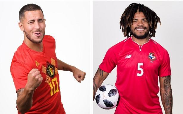 What is it? The World Cup 2018 match between Belgium and Panama. Two of England's Group G rivals will go head to head in their first game of this year's tournament. When is it? This Monday, 18 June - ie today. What time is kick-off? 16.00 BST. What TV channel is it on? BBC One, which you will be able to stick with for Tunisia vs England which immediately follows this game. Alternatively, you can follow both fixtures here. World Cup 2018 Simulator Single Game Where is the game being played? In Sochi. You may remember it from the 2014 Winter Olympics. It's a Fisht-called stadium. Look here: World Cup 2018 stadium: Fisht Stadium What is the team news? Some minor concerns about Eden Hazard last week were allayed by Roberto Martinez last week. He should be fit to play. Panama midfielder Jose Luis Rodriguez limped out of training several days ago, but has been back in since and should also be available to his manager. Those squads in full: Belgium Goalkeepers: Thibaut Courtois (Chelsea), Simon Mignolet (Liverpool), Koen Casteels (VfL Wolfsburg). Defenders: Toby Alderweireld (Tottenham), Thomas Meunier (Paris Saint-Germain), Thomas Vermaelen (Barcelona), Jan Vertonghen (Tottenham), Dedryck Boyata (Celtic), Vincent Kompany (Manchester City). Midfielders: Marouane Fellaini (Manchester United), Axel Witsel (Tianjin Quanjian), Kevin De Bruyne (Manchester City), Eden Hazard (Chelsea), Nacer Chadli (West Bromwich Albion), Leander Dendoncker (Anderlecht), Thorgan Hazard (Borussia Moenchengladbach), Youri Tielemans (Monaco), Mousa Dembele (Tottenham Hotspur). Forwards: Michy Batshuayi (Chelsea/Dortmund), Yannick Carrasco (Dalian Yifang), Adnan Januzaj (Real Sociedad), Romelu Lukaku (Manchester United), Dries Mertens (Napoli). Credit: AFP PANAMA Goalkeepers: Jaime Penedo (Dinamo Bucharest), Jose Calderon (Chorrillo FC), Alex Rodriguez (San Francisco FC). Defenders: Michael Murillo (New York Red Bulls), Harold Cummings (San Jose Earthquakes), Fidel Escobar (New York Red Bulls), Roma