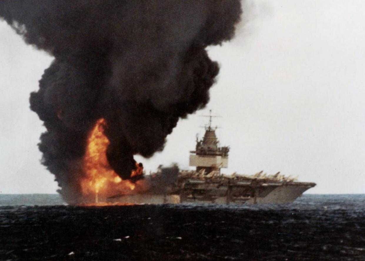 How One Rocket Nearly Destroyed a U S  Navy Aircraft Carrier