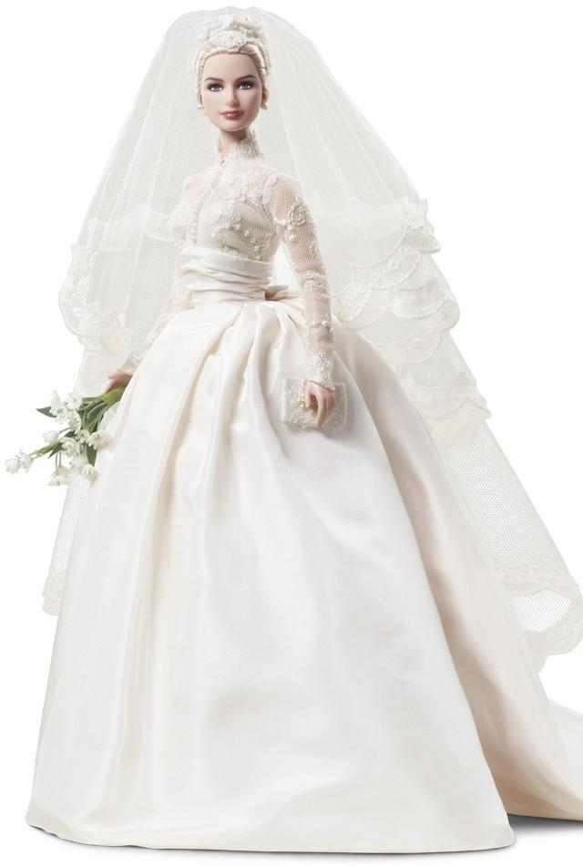 "<div class=""caption-credit""> Photo by: barbiecollector.com</div><b>Grace Kelly bride doll, released in 2011 and <a href=""http://www.barbiecollector.com/shop/doll/grace-kelly-bride-doll-t7942"" rel=""nofollow noopener"" target=""_blank"" data-ylk=""slk:still available for $175"" class=""link rapid-noclick-resp"">still available for $175</a></b> <br> We don't think the face does justice to the Princess of Monaco, but the dress detailing is impeccable. <br>"