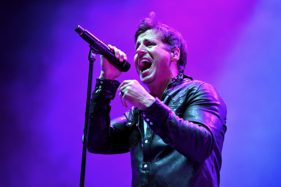 Raine Maida of Our Lady Peace performs on