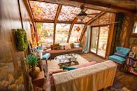 """<p>airbnb.com</p><p><strong>$214.00</strong></p><p><a href=""""https://www.airbnb.com/rooms/10544685"""" rel=""""nofollow noopener"""" target=""""_blank"""" data-ylk=""""slk:BOOK NOW"""" class=""""link rapid-noclick-resp"""">BOOK NOW</a></p><p>This Airbnb sits at the center of Minneapolis' Art District and is lovingly covered in painted murals and eclectic furnishings. A floor-to-ceiling sunroom completes the charming atmosphere.</p>"""