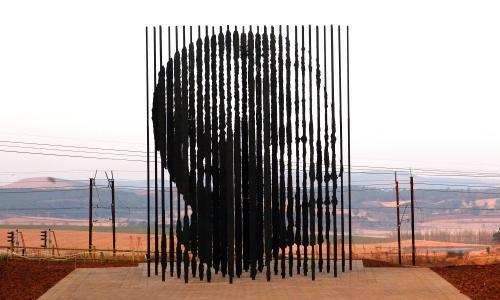 A sculpture of former South African President Nelson Mandela in Durban