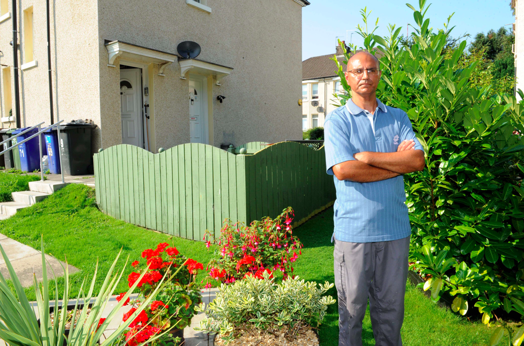 Mark Fairman has an allocated garden space within the grounds of the block-of-four flats. (Reach)